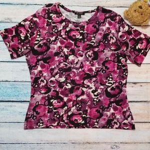 St. John Scoop Neck Short Sleeve Top Size Large